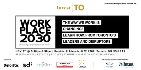 WORKPLACE 2030 - Investing in The Future of Work tickets