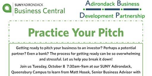Practice Your Pitch-Adirondack Business Development Partnership Program