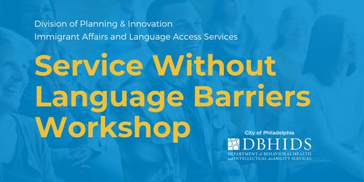 Service Without Language Barriers workshop