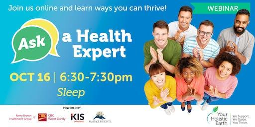 Ask the Health Expert - Online Evening