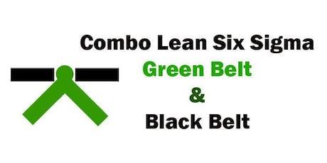 Combo Lean Six Sigma Green Belt and Black Belt Certification Training in Oklahoma City, OK ingressos