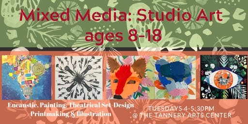 Mixed Media Art for Ages 8-18, October