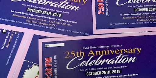 25th Anniversary Celebration Concert for Rev. Dr. T Allen Bethel