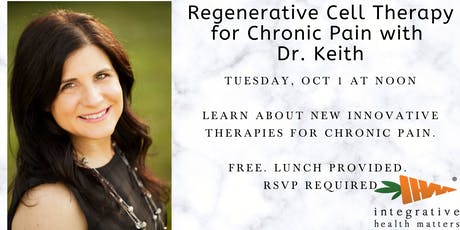 Regenerative Cell Therapy for Chronic Pain with Dr. Keith tickets