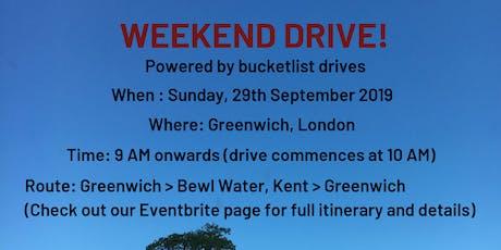 Weekend Drive! - Powered by bucketlist drives tickets