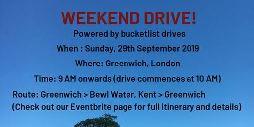 Weekend Drive! - Powered by bucketlist drives