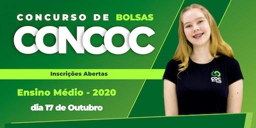 CONCOC  ENSINO MÉDIO 2020 - CONC. DE BOLSA E AULÃO 1º, 2º E TERCEIRÃO