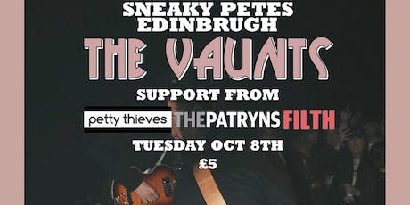 The Vaunts + Support @ Sneaky Pete's tickets