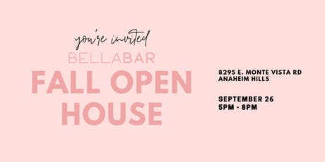 BellaBar Organic Beauty Bar - Fall Open House tickets