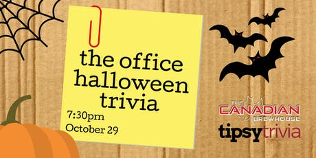 The Office Halloween Trivia - Oct 29, 7:30pm - The Canadian Brewhouse YMM tickets
