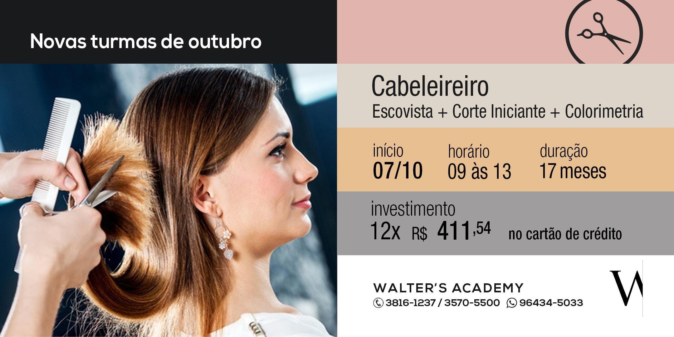 Combo - Escovista + Corte Iniciante + Colorimetria