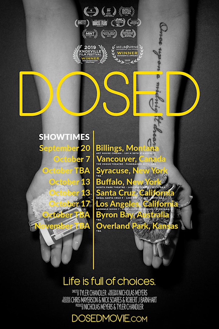 DOSED + M.A.P.S. Canada Fundraiser + Q&A *sold out* image