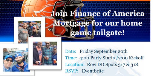 BSU Home Game Tailgate with Finance of America Mortgage