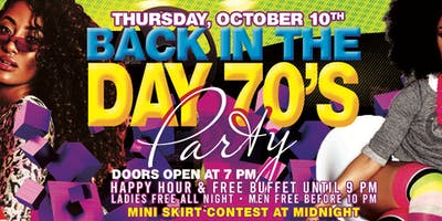 Back in the Day 70's Party