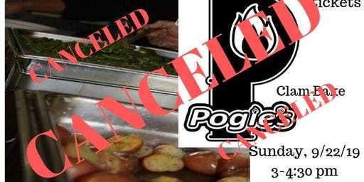 Clam Bake catered by Pogie's Catering Canceled!