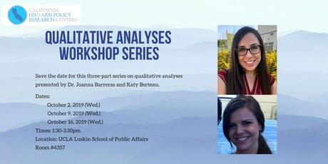 Qualitative Analyses Workshop Series - Part 2 tickets