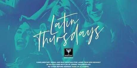 Blue Martini WPB Latin Thursdays  tickets