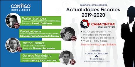 Actualidades Fiscales 2019-2020 boletos