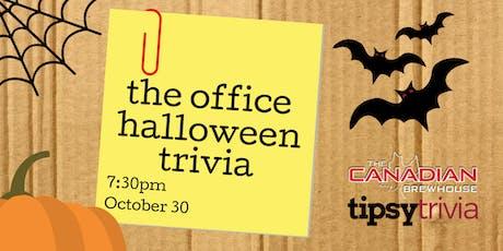 The Office Halloween Trivia - Oct 31, 7:30pm - Winnipeg CBH tickets