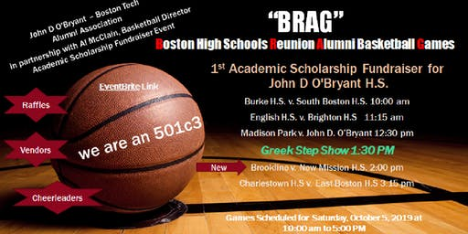 BRAG (Boston HS Reunion Alumni Games) Scholarship Fundraiser