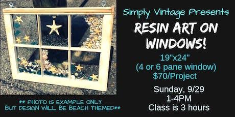 Resin Art on Windows tickets