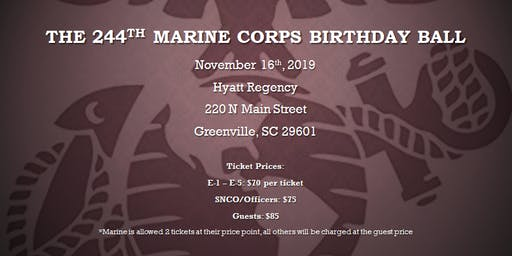 244th Marine Corps Birthday Ball