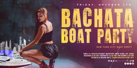 NYC LOVES Bachata Open-Air: Boat Party Yacht Cruise NYC tickets