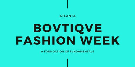 Bovtiqve Fashion Week Registration tickets