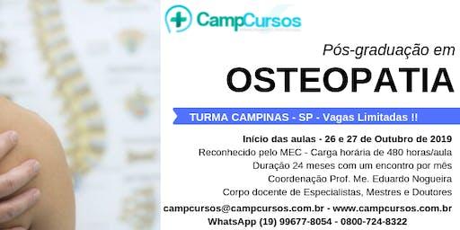Pós-graduação em Osteopatia - Campinas