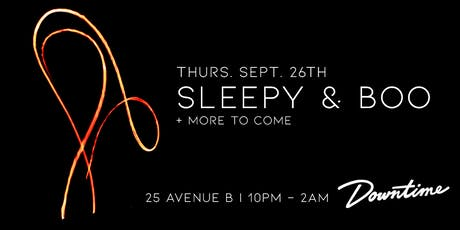 Sleepy & Boo + guests - Downtime Bar - free tickets