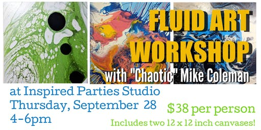 Fluid Art Acrylic Pour with Chaotic Mike