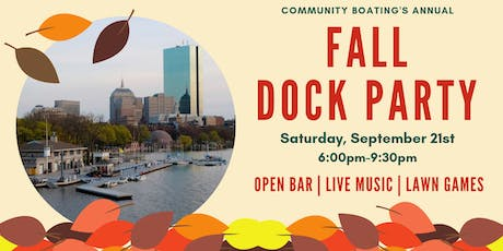 Community Boating's Fall Dock Party tickets