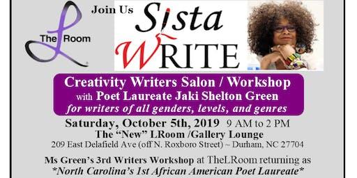 Creative Writers Salon/Workshop with Poet Laureate Jaki Shelton Green