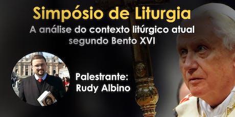 Simpósio sobre a análise do contexto litúrgico atual segundo Bento XVI ingressos