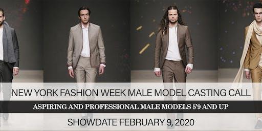 NEW YORK FASHION WEEK FEBRUARY 2020 MALE MODEL CASTING CALL