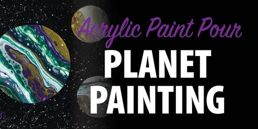 Acrylic Paint Pour Planet