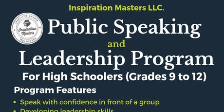High Schoolers Public Speaking and Leadership Program in Plano tickets