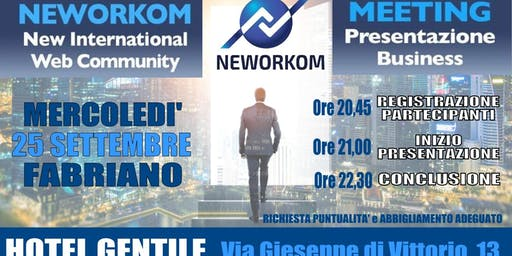 Meeting presentazione business  neworkom
