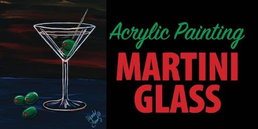 Acrylic Painting Martini Glass