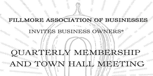 Fillmore Association of Businesses (FAB) Members Meeting and Town Hall