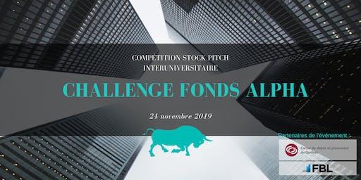 Challenge Fonds Alpha 2019