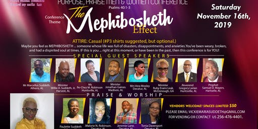 #P3 Pain, PurPose, Praise Men & Women Conference