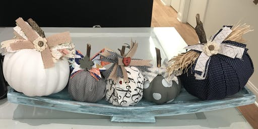 Fabric & Painted Pumpkins