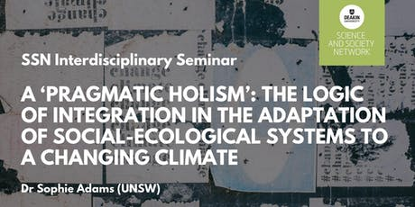 SSN Interdisciplinary Seminar: Dr Sophie Adams tickets