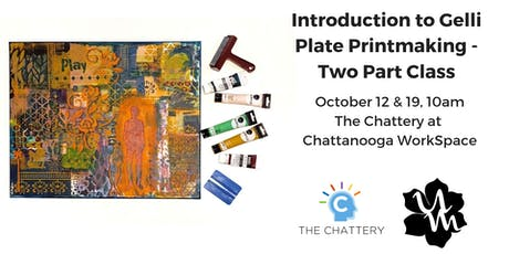 Introduction to Gelli Plate Printmaking - Two Part Class tickets