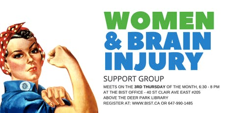 Women and Brain Injury Support Group - Oct 3, 2019 tickets