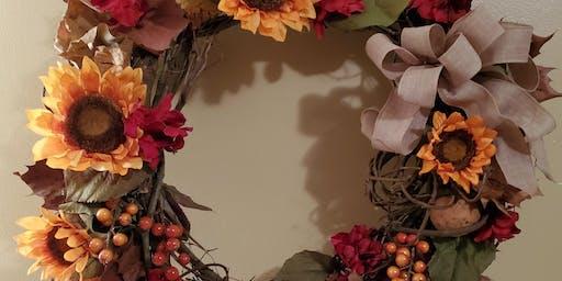 Create an Artisan Fall Wreath