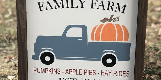 Family Farm Sign - Fall Class