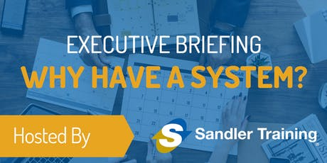 Sales Executive Briefing: Why have a system?   tickets