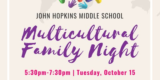 Multicultural Night at John Hopkins Middle School